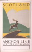 Vintage LNER poster - Scotland the land of romance, 1939